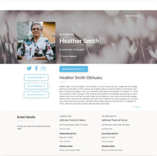 Example Obitia Tribute Page